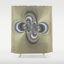 2 rings Shower Curtain
