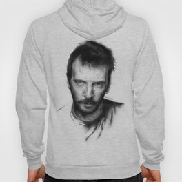 Mathieu Kassovitz on ballpen B&W Hoody