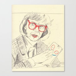 log lady with plank Canvas Print