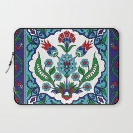 Turkish Tile Pattern – Vintage iznik ceramic with tulips Laptop Sleeve