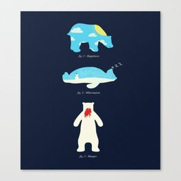 The 3 H's of Bear Life Canvas Print