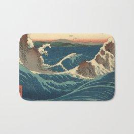 Vintage poster - Japanese Wave Bath Mat