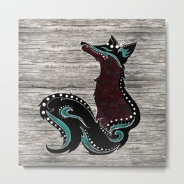 Bohemian Zorro Fox (left) Metal Print