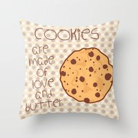 cookies Throw Pillows featuring Cookies by Mim sh.