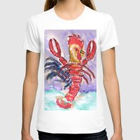 cock T-shirts featuring Cock Lobster by Taylor Winder