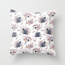 WATERCOLOR BOO Throw Pillow