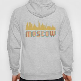 Vintage Style Moscow Russia Skyline Hoody