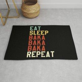 BAKA - Eat Sleep Anime Repeat Tsundere Anime Gift Rug