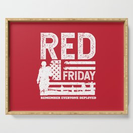 Military Red Friday Remember Deployed Serving Tray