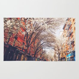 NYC Cherry Blossoms on the Lower East Side Rug