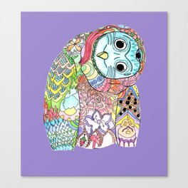 Owl Snap Back Canvas Print