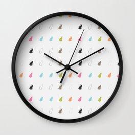 cat pattern#2 Wall Clock