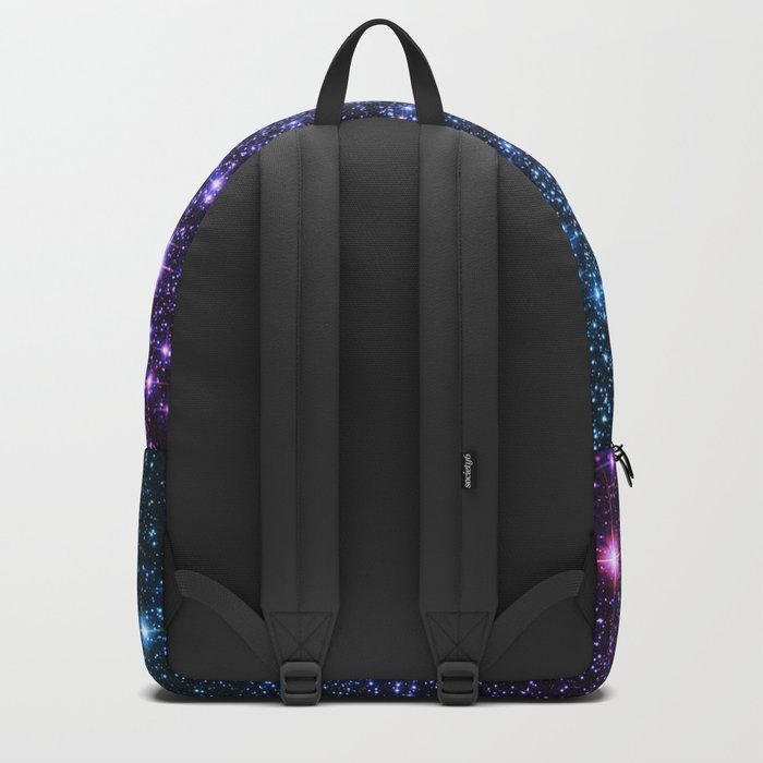 Galaxy Stars : Teal Violet Pink Ombre Backpack