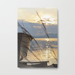Sunset At Lakeside Metal Print