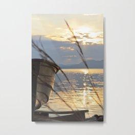 Sunset At Lakeside Metal Print