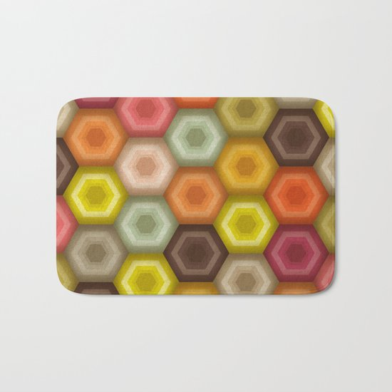 crochet honeycomb retro Bath Mat