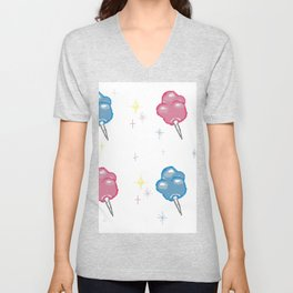 Cotton Candy Clouds Unisex V-Neck