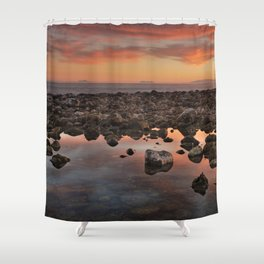 Gibraltar, Africa and Spain in one photo Shower Curtain