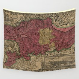 Map Of Bern 1638 Wall Tapestry