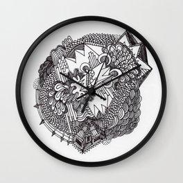 Abstract Pattern Clump II Wall Clock