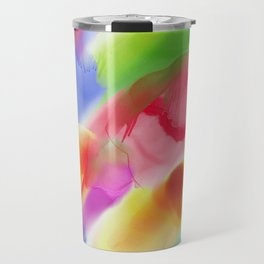 Watercolor Ink Blots Travel Mug