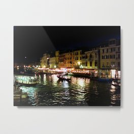 A night at the Grand Canal Metal Print