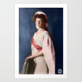 Tatiana Romanov - 1910 Colorized Art Print