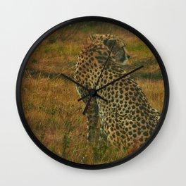 Cheetah. (Alone). Wall Clock
