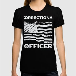 USA Flag Patriotic Gift print For Correctional Officers T-shirt