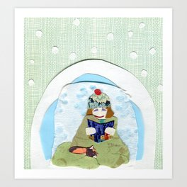 Happy Igloo Art Print