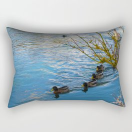 Duck family day out in The Cotswold's Rectangular Pillow