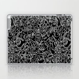 Pattern design crowded with terrific doodles Laptop & iPad Skin