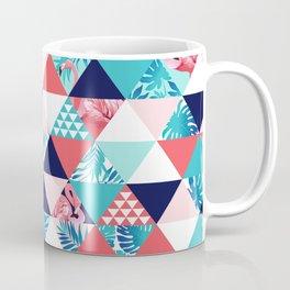 Mint and Coral Flamingos Coffee Mug