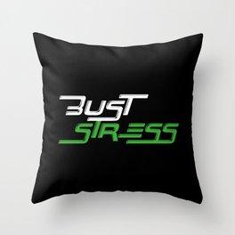 Bust Stress Workout Gym Throw Pillow
