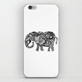 Zentangle Elephant iPhone Skin