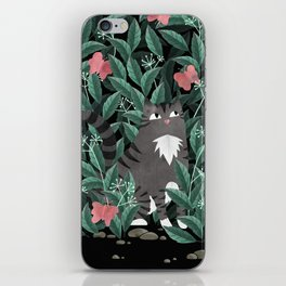 Butterfly Garden (Tabby Cat Version) iPhone Skin