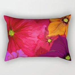 Surfinie and anemones Rectangular Pillow