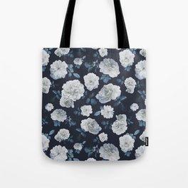 White Roses Flower pattern Tote Bag
