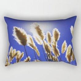 Backlit Blue Rectangular Pillow