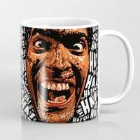 evil dead Mugs featuring HA! HA! HA!  |  EVIL DEAD 2:  DEAD BY DAWN by Silvio Ledbetter