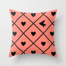 Always Near (from the Valentine set) (colors: setting sun) Throw Pillow