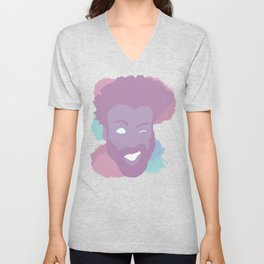 Childish Gambino Pastel Face Unisex V-Neck