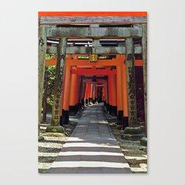 Torii gates - Kyoto, Japan Canvas Print