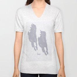 Horses - Love - Wild Veda Unisex V-Neck