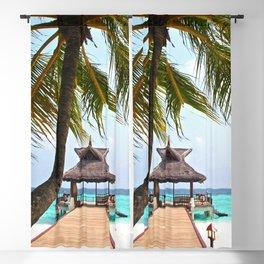 Paradise Beach   OPEN WINDOW ART Blackout Curtain