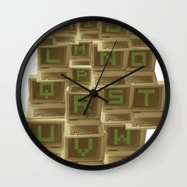 A to Z  Wall Clock