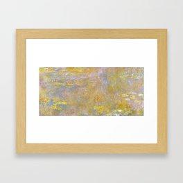 Sea-Roses (Yellow Nirwana) by Claude Monet Framed Art Print
