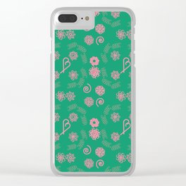 Candy cane pattern 6b Clear iPhone Case