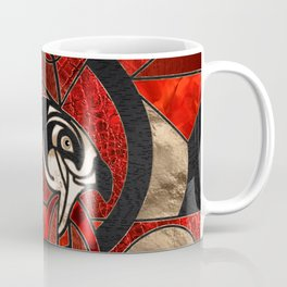 Egyptian Horus Geometric Red Mix Coffee Mug