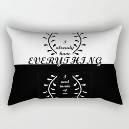 ANCIENT KNOWLEDGE,BLACK&WHITE,Self Affirmations,NEW AGE Rectangular Pillow